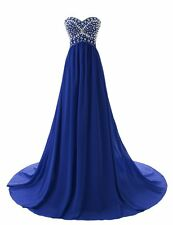 STOCK US Size 10  Royal Blue Bridesmaid Dresses Wedding Party Prom Evening Gowns
