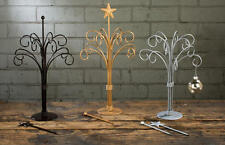 """12 Arm BROWN Ornament Jewelry Stand Table Top Tree Changeable Topper 19"""" 15383"""