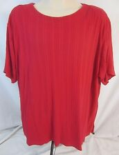 The Avenue Short Sleeve Red Top Blouse Shirt - Women's 22/24 - D198