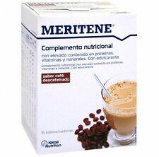 MERITENE  CAFÉ DESCAFEINADO  15 SOBRES    100 % ORIGINAL !!!  MENSAJERO URGENTE