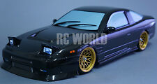 1/10 RC Car Body Shell NISSAN 180SX CARBON FIBER  Drift  BODY W/ Light Bucket