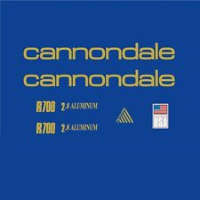 Cannondale R700 Bicycle Frame Stickers - Decals - Transfers: Gold. n.9