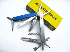 LEATHERMAN Columbia Blue JUICE CS4 Multi-Tool Plier Knife Screwdriver! 831921