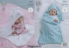 King cole 4534 yummy baby blanket/cocoon original knitting pattern-nouvelle version