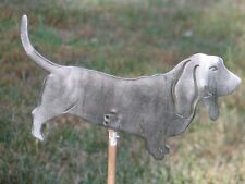 Basset Hound Dog yard garden art statue stake home decor metal steel