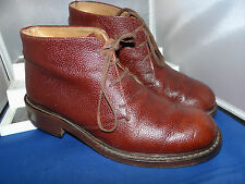 HUDSON & CO (Made in Italy) SMART SOLID GRAINY LEATHER CHELSEA BOOTS UK 9 EU 43