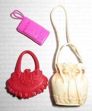 PURSE LOT (PL5) ~ BARBIE DOLL ASSORTED PLASTIC PURSE ACCESSORY ACCESSORIES LOT