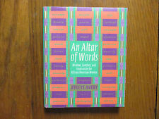 """BYLLYE  AVERY  Signed  Book(""""AN  ALTAR  OF  WORDS""""-1998 First Edition  Hardback)"""