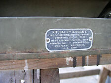 vintage B-17 aircraft Kitchen Galley equipment Assy.