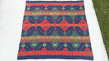 VINTAGE SOUTH WEST WESTERN AMERICAN  BLANKET   70 X 68 INCHES