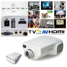 Mini 1080P HD Multimedia LED Projector Home Cinema AV TV VGA HDMI Video White