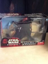 "Star Wars Darth Maul on Sith Speeder 12"" Inch Figure Episode One"