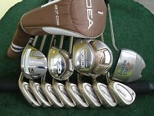 Ladies Taylormade Adams Driver Irons Woods Putter Complete Golf Club Set R.H.***