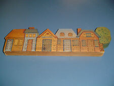 Wood Cribbage Board Welcome Sign Row of Houses