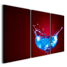 QUADRO MODERNO FLASH COCKTAIL ARREDAMENTO BAR QUADRI MODERNI STAMPE CANVAS
