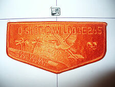 OA O Shot Caw Lodge 265 S-76, All Orange Ghost Flap, South Florida Cncl,Miami,FL