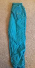Women's Vintage ADIDAS Nylon Lined Pants Turquoise w/Ankle Zippers Size M