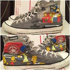 RARE Converse All Star The Simpsons High Top Sneaker Shoe Men Sz 8 Chuck Ta