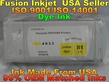 NEW Compatible HP Designjet 5000ps 5500ps for HP 81 Yellow Dye C4933A