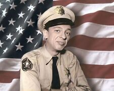 """DON KNOTTS BARNEY FIFE THE ANDY GRIFFITH SHOW 1960 10x8"""" HAND COLOR TINTED PHOTO"""