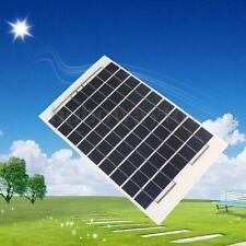10W 12V PolyCrystalline Cells Solar Panel Battery Charger + 4m cable & Clips