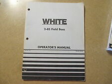 White 2-85 2 85 tractor owners & maintenance manual