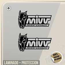 PEGATINA MIVV EXHAUST NEGRO BLACK DECAL VINILO VINYL STICKER DECAL ADESIVI