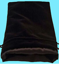 BLACK VELVET & LUXURY SATIN Lining DICE BAG NEW 6x8 Storage Pouch MDG Silk Game