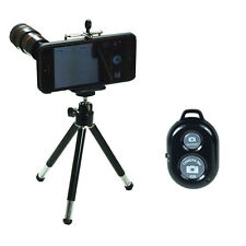 8X Zoom Telescope Camera Lens + Tripod +Case + Bluetooth Remote for iPhone 5s 5