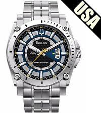 Bulova Men's Precisionist 96B131 Black Stainless-Steel Quartz Watch UHF Diver