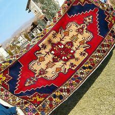 Exquisite Antiique 1900-1930s Armenian Natural Dyes Wool Pile Area Rug Turkey