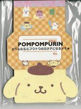 Sanrio Pom Pom Purin Notepad Fold Notes 2 Designs