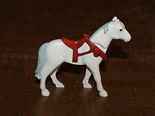 Playmobil country cheval blanc avec collier marron et selle 3117 4060 6376 5168