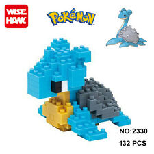 Anime Pokemon Lapras Figure Diamond Mini Building Nano Blocks Toy Pocket Monster