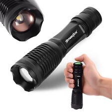 Zoomable CRÉE T6 4000LM LED Flashlight 5 Modes Torche Rechargeable Lampe