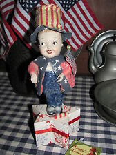 "Bethany Lowe ""Yankee Doodle Dandy"" Patriotic Uncle Sam Candy Container Box,NEW"