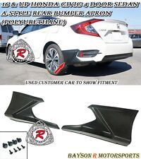 16-17 Civic 4dr A-Style Rear Bumper Lip Aprons (Urethane)