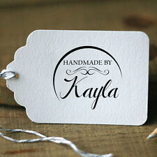 Personalized Custom Made Handmade by Name Date Handle Mounted Rubber Stamp R529