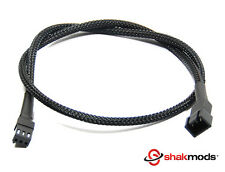 30cm Shakmods 3 pin Fan Black Sleeved Computer Extension Cable FREE UK DELIVERY
