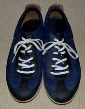 Ecco Jogga Men Navy Blue Sneakers Leather Breathable Shoes Size EU 40