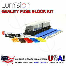 10 Port Way Fuse Block Lumision Kit Ready to Install Automotive Car Boat Marine