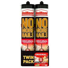2 x Unibond No More Nails Original Interior 300ml Cartridge - Twin Pack