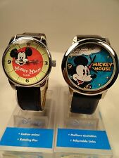 TWO Disney Mickey Mouse collectible Anniversary watches,New with warranty