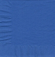 50 Plain Solid Colors Luncheon Dinner Napkins Paper - Cobalt/Royal Blue