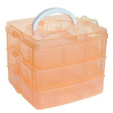Plastic Craft Beads Jewellery Storage Organizer Compartment Tool Box Case N1