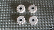 Lego Technic White Technic Gear 24 Tooth Clutch  x  4  p/n 60c01 ****NEW****