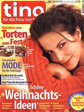 Zeitschrift TINA Nr. 50 von 2000, Weihnachts-Ideen, Mode, Torten, Typberatung