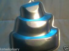 WiltonTiered TOPSY TURVY Cake Pan Mold Tin w/Instructions WW Shipping