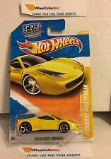 Ferrari 458 Italia #34 * YELLOW * 2010 Hot Wheels * h49