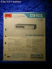 Sony Service Manual STR VX3L Receiver  (#0434)